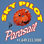 sky pilot parasailing grace bay providenciales turks and caicos islands