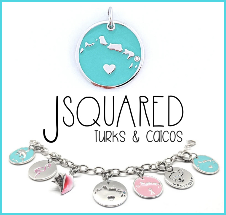 turks caicos silver charms jewellery