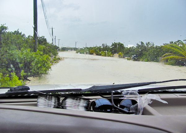 A photograph of hurricane Irene damage, Turks and Caicos Islands, British West Indies