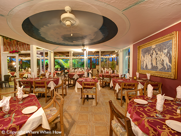 A photograph of Bella Luna Ristorante, fine Italian dining in Grace Bay, Providenciales (Provo), Turks and Caicos Islands.