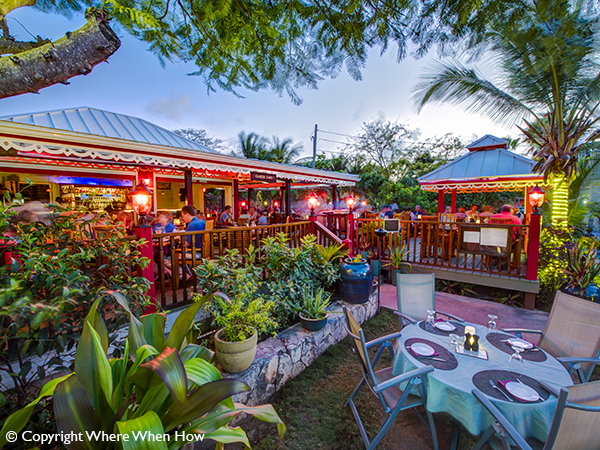 A photograph of Caicos Café, Grace Bay, Providenciales (Provo), Turks and Caicos Islands.