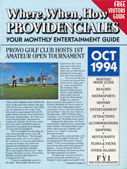Read our October 1994 issue of Where When How - Turks & Caicos Islands magazine!