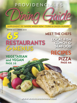 Read our 2018 issue of Providenciales Dining Guide magazine!