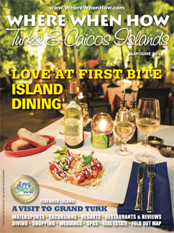 Where When How - Turks & Caicos Islands - May / June 2015 magazine cover.