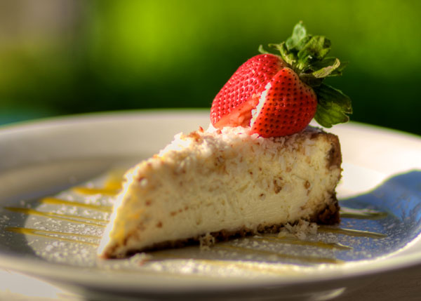 A photograph of Key Lime Pie at Bay Bistro on Grace Bay Beach, Providenciales (Provo), Turks and Caicos Islands.