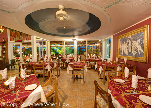 A photograph of The Spring Room at Bella Luna Ristorante in Grace Bay, Grace Bay, Providenciales (Provo), Turks and Caicos Islands.