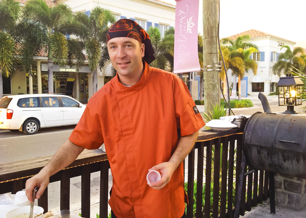 A photograph of chef Joey at Danny Buoys Bar and Restaurant, Grace Bay, Providenciales (Provo), Turks and Caicos Islands.