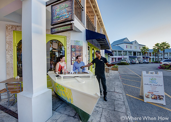 A photograph of Fresh Catch Restaurant at The Saltmills, Providenciales (Provo), Turks and Caicos Islands.