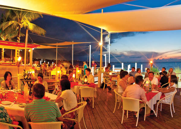 A photograph of beachfront Mango Reef Restaurant, Providenciales (Provo), Turks and Caicos Islands.