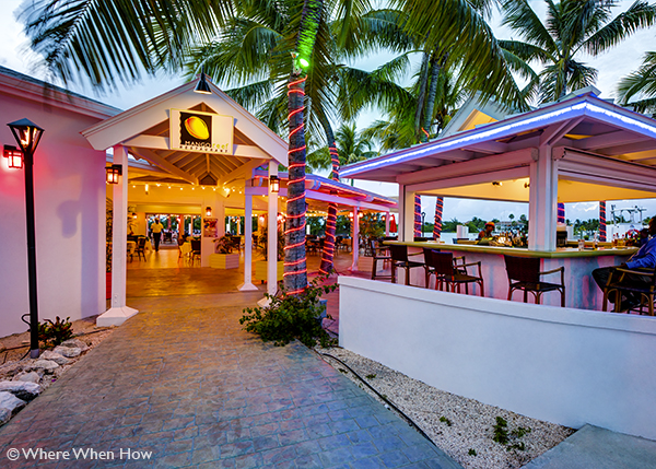 A photograph of Mango Reef Restaurant in Turtle Cove, Providenciales (Provo), Turks and Caicos Islands.