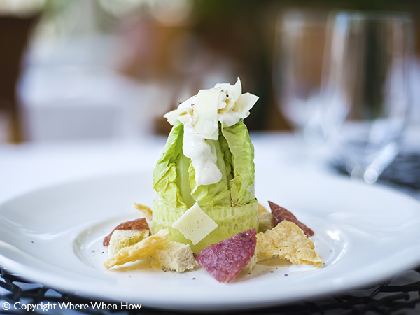 A photograph of The Regent Caesar Salad.