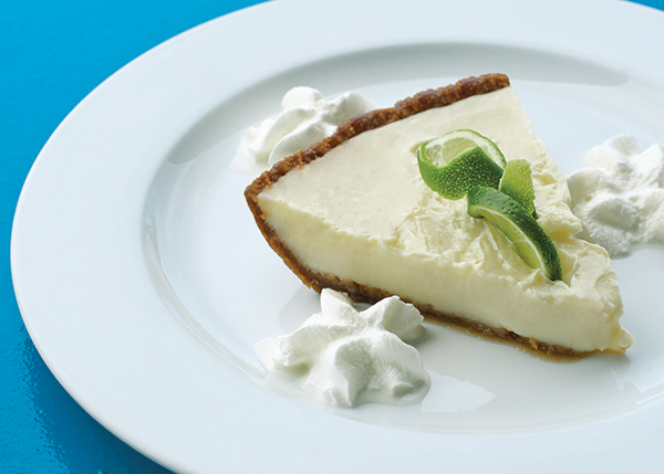 A photograph of A tart, creamy and smooth Key Lime Pie is a Sharkbite favourite dessert at Turtle Cove Marina, Turtle Cove, Providenciales (Provo), Turks and Caicos Islands.