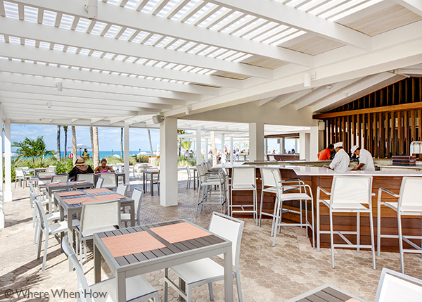 A photograph of Solana! beachfront on Grace Bay at Ocean Club West, Providenciales (Provo), Turks and Caicos Islands.