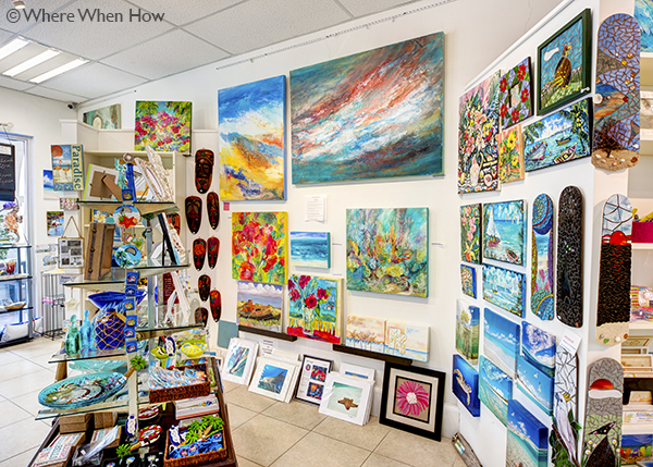 A photograph of Local Artists and gifts at Art Provo gallery, Providenciales (Provo), Turks and Caicos Islands.