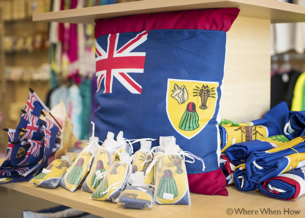 A photograph of souvenirs at The Beach Hut, Providenciales (Provo), Turks and Caicos Islands.