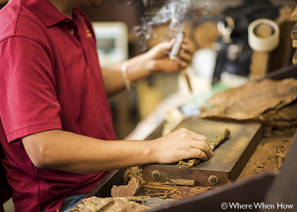 A photograph of Cuban cigars at Cuban Crafters, Providenciales (Provo), Turks and Caicos Islands.