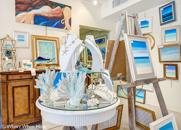 A photograph of Anna's Art Gallery and Boutique, Providenciales (Provo), Turks and Caicos Islands.