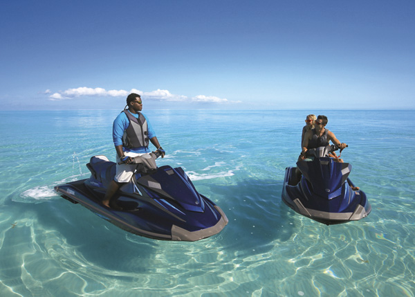 A photograph of jet skis, Providenciales (Provo), Turks and Caicos Islands.