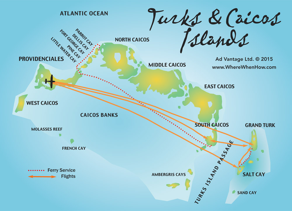 Turks And Caicos Islands Maps Providenciales Provo North - Islands map