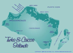 Click here for maps of the Turks and Caicos Islands, detailed maps of Providenciales, Middle Caicos and North Caicos