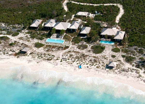 A photograph of a privately owned villa on Parrot Cay, Turks and Caicos Islands, British West Indies