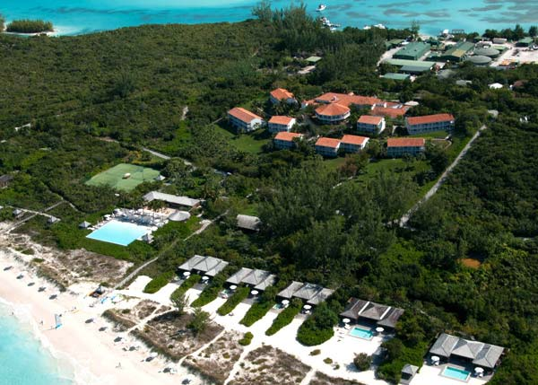 A photograph of the The Parrot Cay Resort and Shambhala Spa, Turks and Caicos Islands, British West Indies