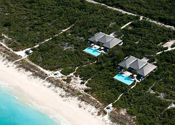 A photograph of a private Parrot Cay three bedroom villa in the Turks and Caicos Islands, British West Indies