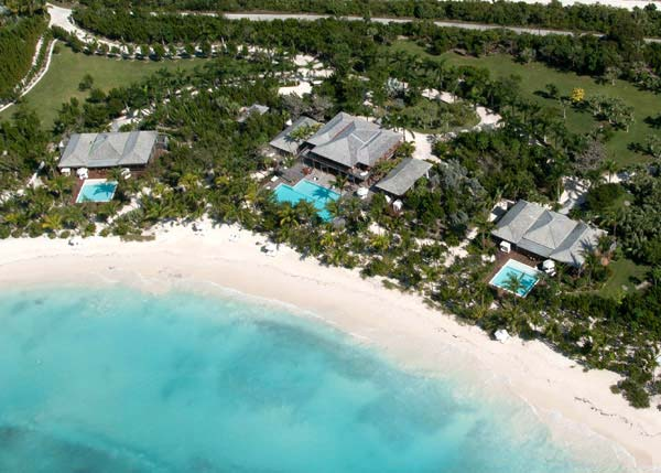 A photograph of a celebrity villa, The Residence, Parrot Cay, Turks and Caicos Islands, British West Indies