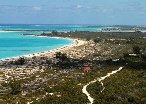 A photograph of Pine Cay, Turks and Caicos Islands, British West Indies