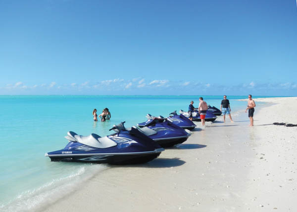 A photograph of Caribbean Cruisin waverunners on Providenciales (Provo), Turks and Caicos Islands