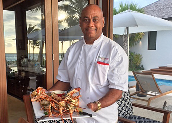 A photograph of the Travelling Gourmet Chef, Grace Bay, Providenciales (Provo), Turks and Caicos Islands.