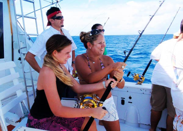 A photograph of a Bottom Fishing Boat Tour with Panoply Sport Fishing and Charters, Providenciales (Provo), Turks and Caicos Islands, British West Indies