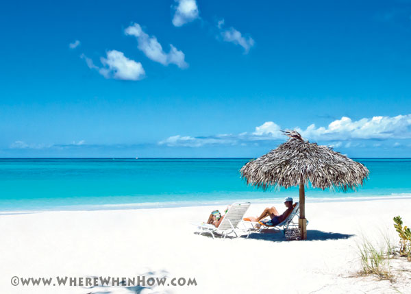 A photograph of Grace Bay Beach at the Sands Resort the Turks and Caicos Islands