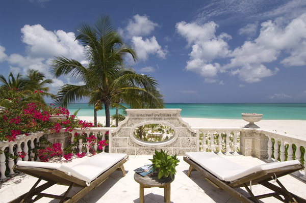 A photograph of fully staffed Coral House, Grace Bay Beach, Providenciales (Provo), Turks and Caicos Islands, British West Indies