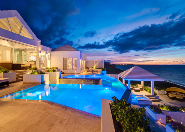 A photograph of Cascade Villa, Providenciales (Provo), Turks and Caicos Islands, British West Indies