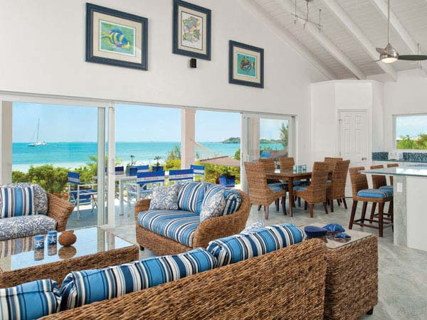 A photograph of Coconut Beach Villa, Providenciales (Provo), Turks and Caicos Islands, British West Indies