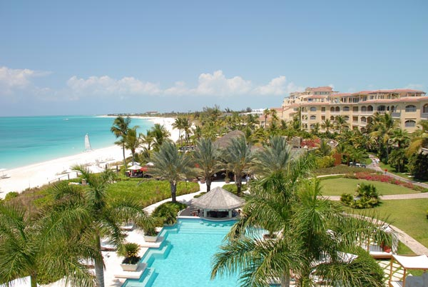 A photograph of The Grace Bay Club, Grace Bay Beach, Providenciales (Provo), Turks and Caicos Islands, British West Indies
