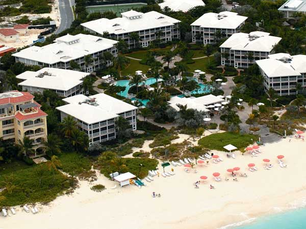 A photograph of the Ocean Club West Resort, Grace Bay Beach, Providenciales (Provo), Turks and Caicos Islands, British West Indies