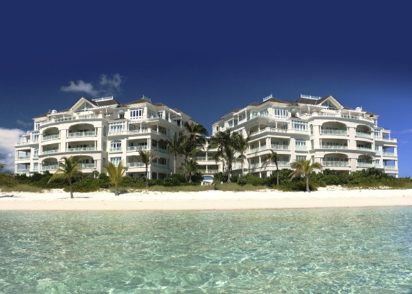 A photograph of The Shore Club on Long Bay, Providenciales (Provo), Turks and Caicos Islands, British West Indies