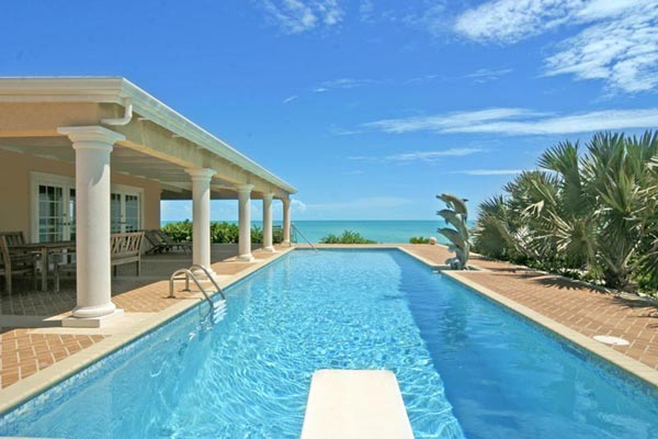 A photograph of Three Dolphins Villa, Long Bay Beach, Providenciales (Provo), Turks and Caicos Islands, British West Indies