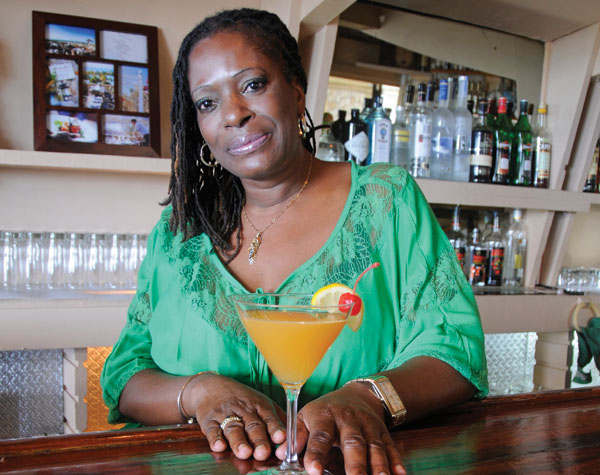 A photograph of Bartender Viola at Magnolia Wine Bar, Providenciales (Provo), Turks and Caicos Islands