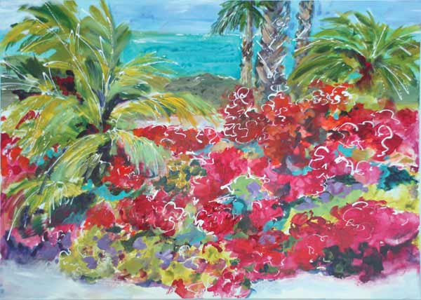 A photograph of a painting at Art Provo, The Regent Village, Providenciales (Provo), Turks and Caicos Islands.