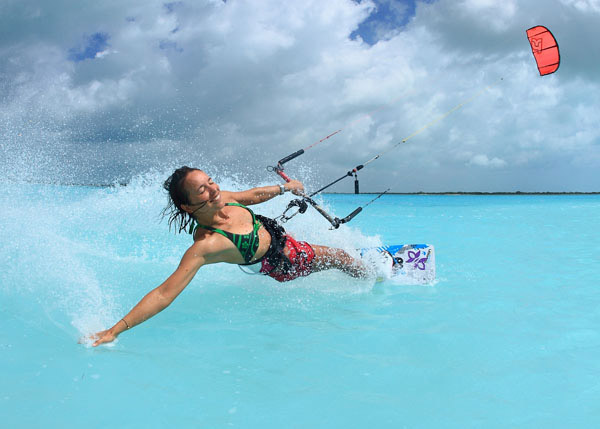 A photograph of Kite Surfing with Big Blue Collective, Turks and Caicos Islands, British West Indies