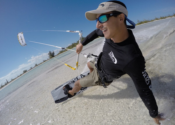 A photograph of Kiteboarding with Kite Provo, Turks and Caicos Islands, British West Indies