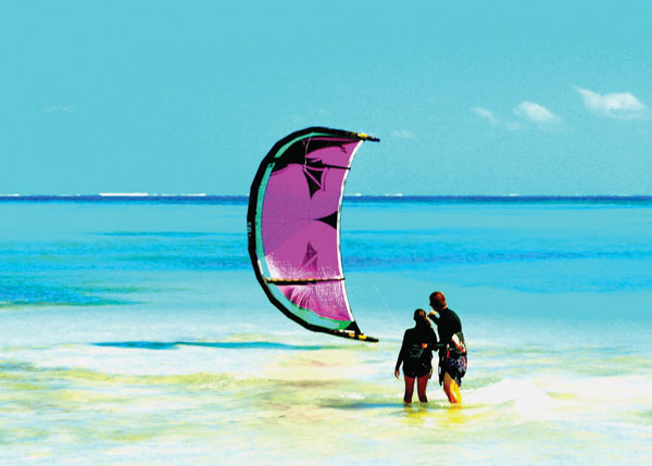 A photograph of Kiteboarding with TC Kiteboarding, Turks and Caicos Islands, British West Indies