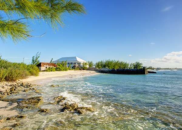 A photograph of The White House, Salt Cay, Turks and Caicos Islands, British West Indies
