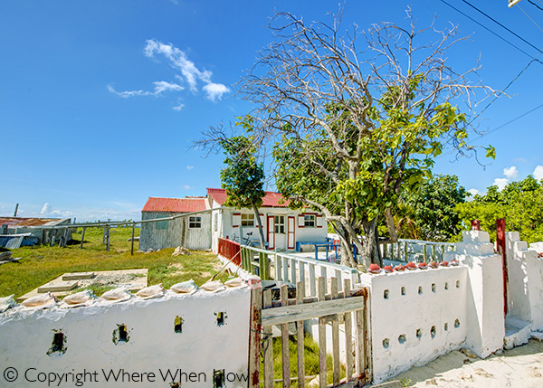 A photograph of a home in South District, Salt Cay, Turks and Caicos Islands, British West Indies