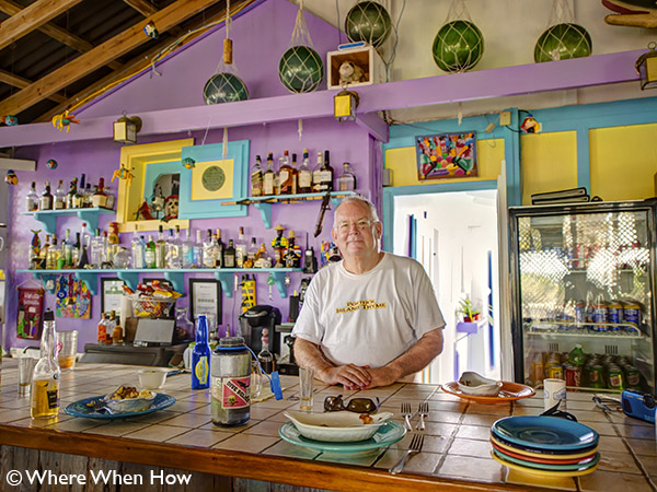 A photograph of Porters Island Thyme Bistro on Salt Cay, Turks and Caicos Islands, British West Indies