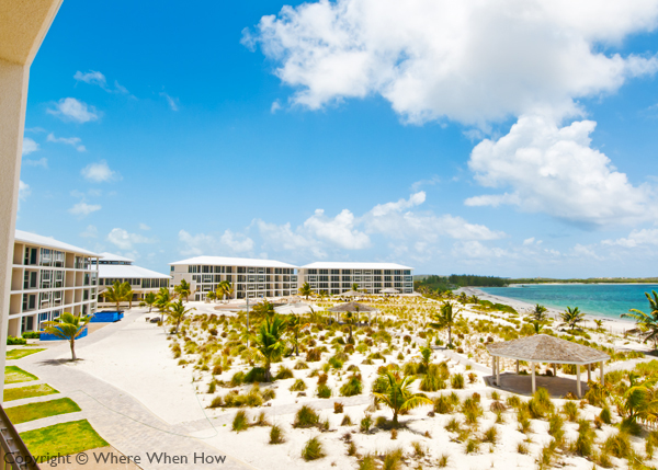 A photograph of the East Bay Resort on South Caicos, Turks and Caicos Islands, British West Indies
