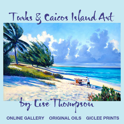 Island gifts original oil paintings, prints of Turks and Caicos Islands